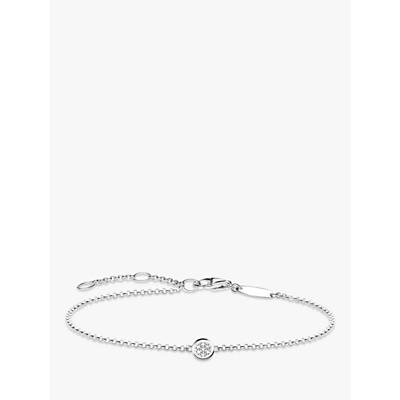 Thomas Sabo Dazzling Diamond Pave Disc Bracelet, Silver