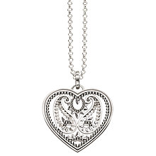 Buy Thomas Sabo Glam & Soul Arabesque Cut Out Heart Pendant Necklace, Silver Online at johnlewis.com
