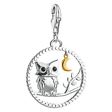 Buy Thomas Sabo 18ct Gold Plated Night Owl Charm, Silver/Gold Online at johnlewis.com