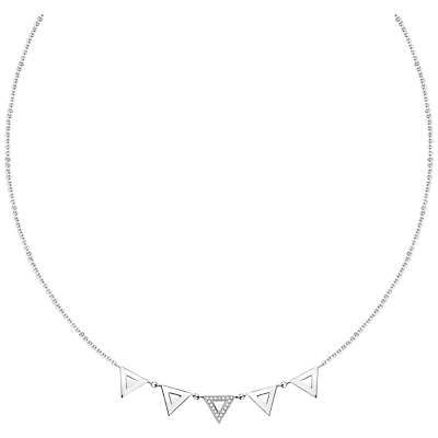 Thomas Sabo Glam & Soul 5 Triangle Diamond Pavé Necklace, Silver