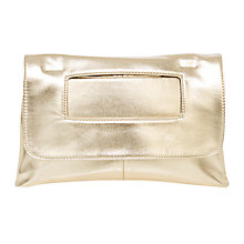 Buy Coast Hayley Mini Metallic Bag, Gold Online at johnlewis.com
