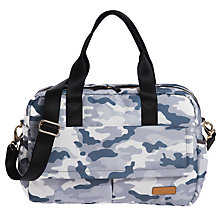 Buy Jem + Bea Marlow Camo Duffle Changing Bag, Pale Grey/Multi Online at johnlewis.com