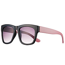 Buy John Lewis Chunky D Frame Sunglasses, Pink Multi/Lilac Gradient Online at johnlewis.com
