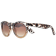 Buy John Lewis Ombre Chunky Preppy Sunglasses, Tortoise/Brown Gradient Online at johnlewis.com
