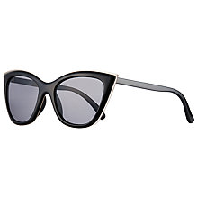 Buy John Lewis Metal Edge Cat's Eye Sunglasses, Black/Grey Online at johnlewis.com