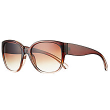 Buy John Lewis Square Sunglasses, Brown Mix/Brown Gradient Online at johnlewis.com