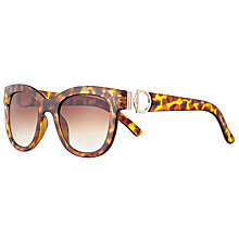Buy John Lewis Snaffle Detail Square Sunglasses, Light Tortoise/Brown Gradient Online at johnlewis.com