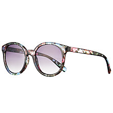 Buy John Lewis Floral Preppy Sunglasses, Multi/Purple Gradient Online at johnlewis.com