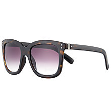 Buy John Lewis Shiny Square Sunglasses, Tortoise/Purple Gradient Online at johnlewis.com