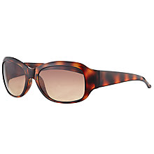 Buy John Lewis Small Rectangular Sunglasses, Tortoise/Brown Gradient Online at johnlewis.com