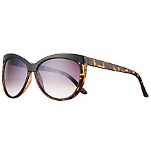 Buy John Lewis Contrast Brow Cat's Eye Sunglasses, Tortoise Multi/Lilac Gradient Online at johnlewis.com