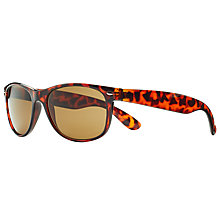 Buy John Lewis D Frame Sunglasses, Tortoise/Beige Online at johnlewis.com