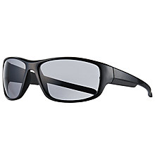 Buy John Lewis Sports Rectangular Wrap Sunglasses, Black/Clear Online at johnlewis.com