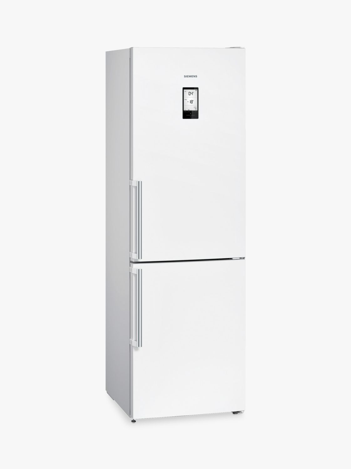 Siemens Siemens KG39NLB35 Freestanding Fridge Freezer with Home Connect, A++ Energy Rating, 60cm Wide, Black Glass