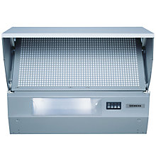 Buy Siemens LE64130GB Integrated Cooker Hood, Silver Online at johnlewis.com