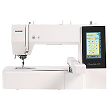 Buy Janome Memory Craft 500E Embroidery Machine Online at johnlewis.com