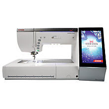 Buy Janome Memory Craft 15000 Sewing Machine, White Online at johnlewis.com
