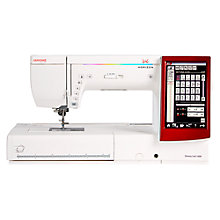 Buy Janome Memory Craft 14000 Sewing Machine, White Online at johnlewis.com