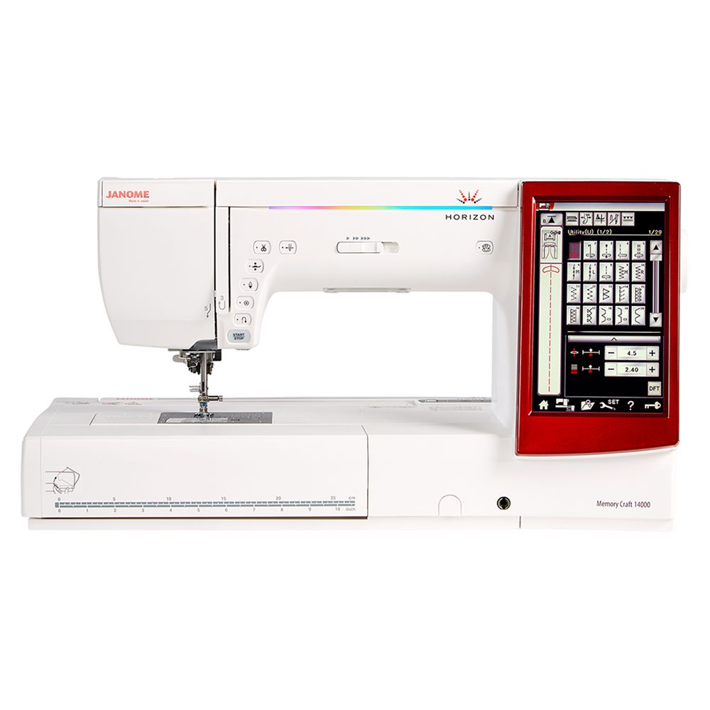 Janome Janome Memory Craft 14000 Sewing Machine, White