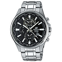 Buy Casio Men's Edifice World Time Chronograph Date Bracelet Strap Watch Online at johnlewis.com