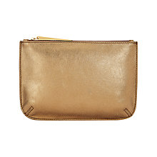 Buy Jigsaw Alba Medium Leather Pouch Clutch, Bronze Online at johnlewis.com
