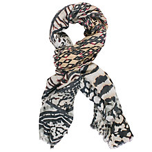 Buy Chesca Aztec Printed Scarf, Sand/Multi Online at johnlewis.com