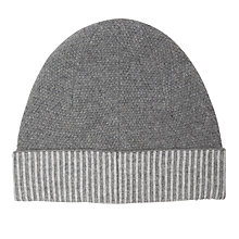 Buy Jigsaw Savannah Cashmere Hat, Grey Online at johnlewis.com