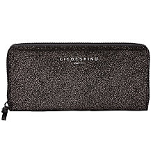 Buy Liebeskind Sally R Leather Wallet, Black Glitter Online at johnlewis.com