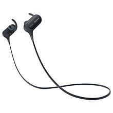 Buy Sony MDR-XB50BS Extra Bass Bluetooth NFC Splash Resistant Wireless Sports In-Ear Headphones with Built-In Mic, Remote & Volume Control Online at johnlewis.com