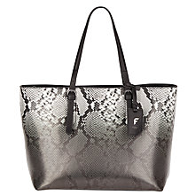 Buy Fiorelli Amanda Ombre Snake Tote Bag, Grey Online at johnlewis.com