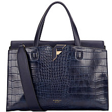 Buy Fiorelli Brompton Medium Grab Bag, Navy Croc Online at johnlewis.com