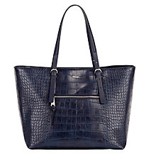 Buy Fiorelli Mary Tote Bag, Navy Croc Online at johnlewis.com
