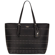 Buy Fiorelli Savannah Stud Tote Bag, Black Online at johnlewis.com