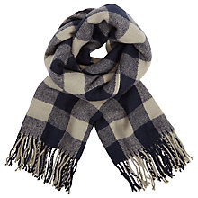 Buy Harris Wilson Wahel Check Scarf, Marine Online at johnlewis.com
