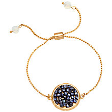 Buy Adele Marie Disc Bracelet, Gold/Black Online at johnlewis.com