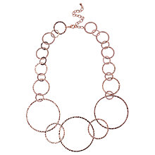 Buy Adele Marie Graduating Textured Hoop Necklace Online at johnlewis.com