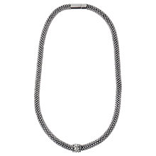 Buy Adele Marie Fine Bead Pave Rope Necklace, Silver Online at johnlewis.com