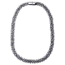Buy Adele Marie Faceted Glass Beads Rope Necklace, Silver Online at johnlewis.com