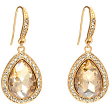 Buy Adele Marie Pave Set Teardrop Hook Earrings, Gold/Citrine Online at johnlewis.com