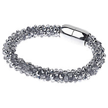 Buy Adele Marie Faceted Glass Bead Rope Bracelet, Silver Online at johnlewis.com