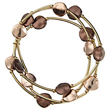 Buy John Lewis Illusion Disc Stretch Bracelet, Bronze/Rose Gold Online at johnlewis.com
