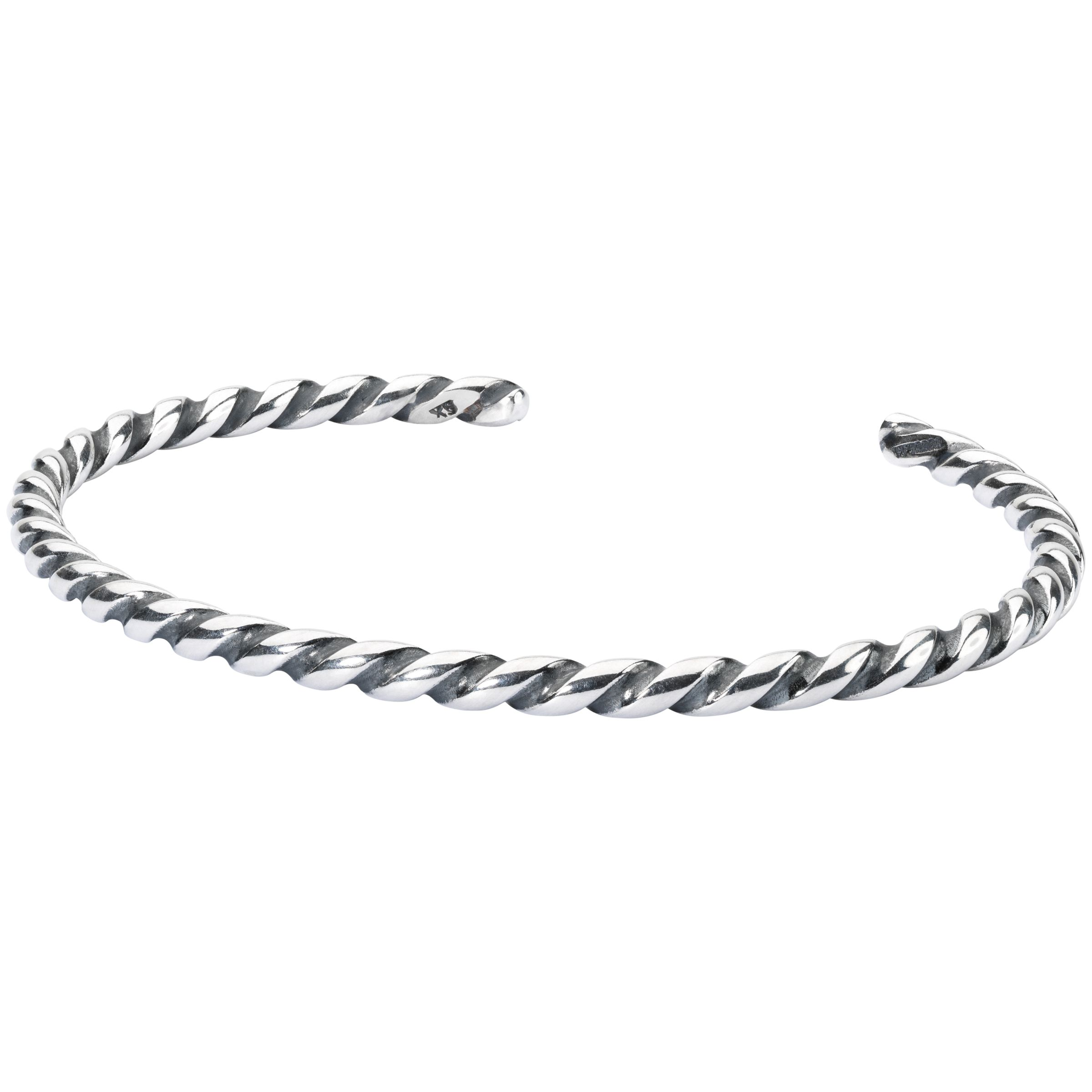 Trollbeads Trollbeads Twisted Bangle, Silver
