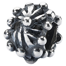Buy Trollbeads Quiet Flower Charm, Silver Online at johnlewis.com
