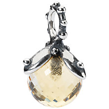 Buy Trollbeads Citrine Facet Tassel Charm, Yellow Online at johnlewis.com