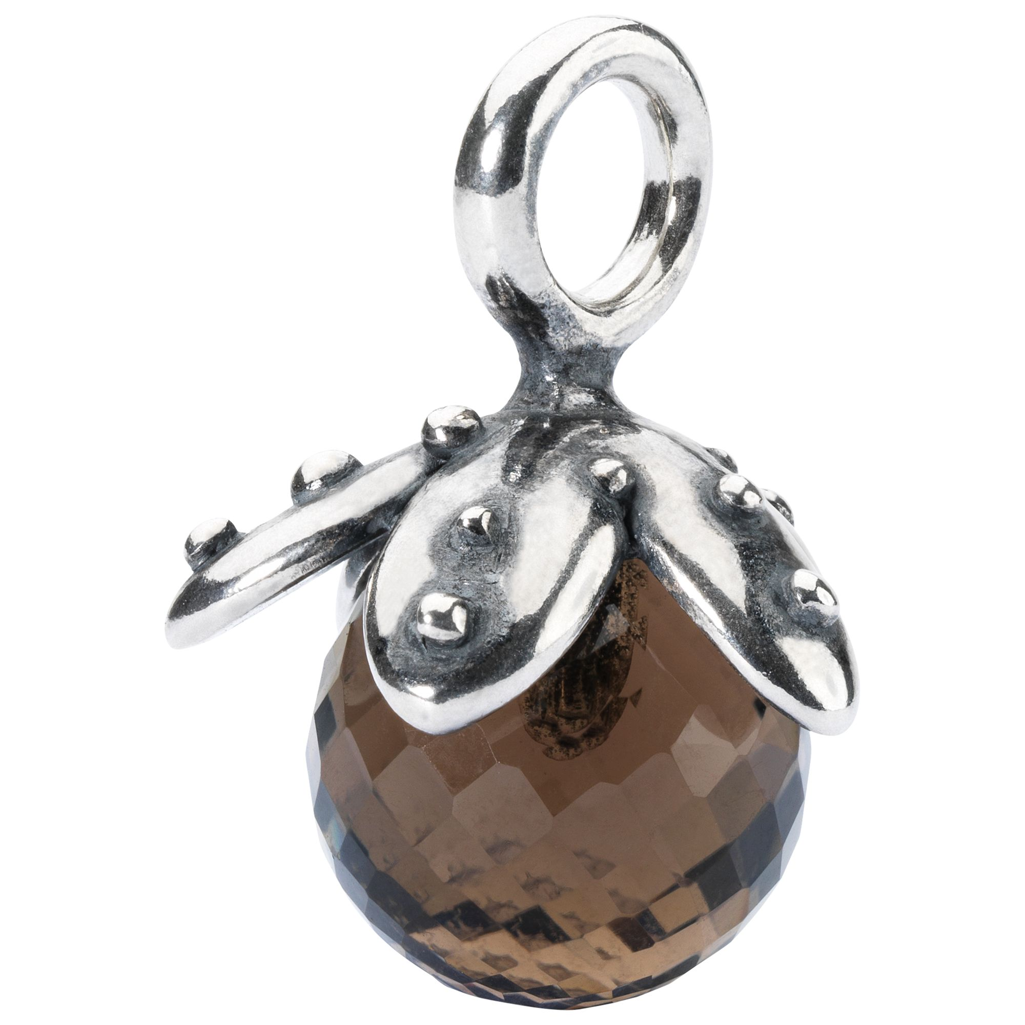 Trollbeads Trollbeads Smoky Quartz Facet Tassel Charm, Brown