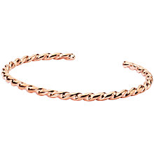 Buy Trollbeads Twist Bangle, Copper Online at johnlewis.com