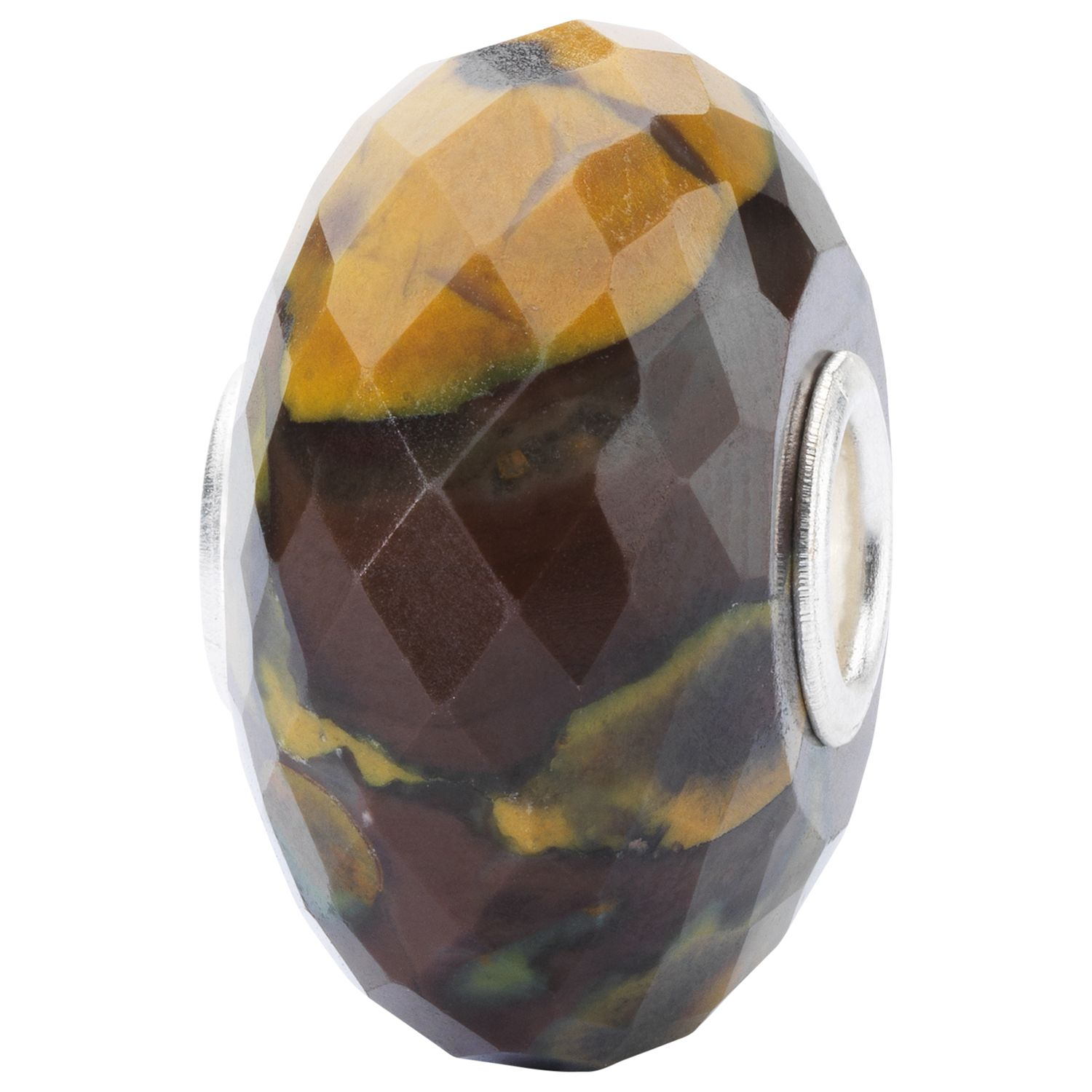 Trollbeads Trollbeads Sterling Silver Calcite Rock Bead Charm, Brown