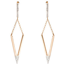 Buy A B Davis 9ct Gold Diamond Triangular Drop Earrings Online at johnlewis.com