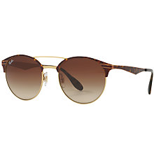 Buy Ray-Ban RB3545 Oval Sunglasses, Tortoise/Brown Gradient Online at johnlewis.com