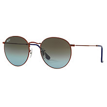 Buy Ray-Ban RB3447 Round Metal Sunglasses Online at johnlewis.com